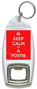 Keep Calm I'm A Postie - Bottle Opener Keyring