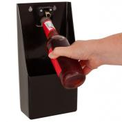 Bottle Opener & Cap Catcher With Fixings | Professional Heavy Duty Bottle Top Opener, Wall Mountable Barware