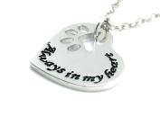 Pet MEMORIAL Necklace - ALWAYS IN MY HEART Pendant -Cat/Dog UK Stock