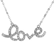 """Shinning """"Hope"""" or """"Love"""" Letters Crystal Pendant Necklace"""