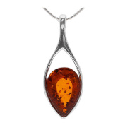 COGNAC BALTIC AMBER STERLING SILVER 925 PENDANT. KAB-267