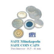 25 SAFE Coin CAPS 19-Ideal for 2 Euro-Cent coins Penny 5 etc.