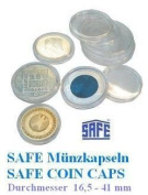 50 x SAFE Coin CAPS 41cm - Ideal for Eagle Silberdollar US $coins etc.