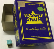 72 cubes green Triangle snooker pool billiards chalk in genuine Triangle box
