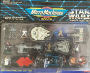 Star Wars Vintage Galoob 1995 Micro Machines Trilogy Select Set - 16 Authentic Vehicles And Figures From The Original Trilogy