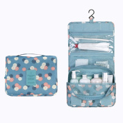 Contever® Multifunction Foldable Beauty Travel Cosmetic Hanging Wash Bag Makeup Case Pouch Toiletry - Blue