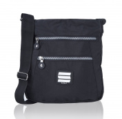 Suvelle Go-Anywhere Travel Crossbody Bag Shoulder Handbag Multi Pocket Nylon Purse 20103