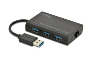 USB 3.0 3-Port Hub & Gigabit LAN Adapter