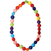 Bead String Necklace Smartie Or M & m Shaped Beads Elasticated Made With Resin by JOE COOL