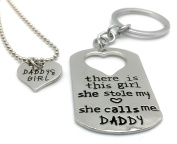 Lovely 2 Part DADDY & Daddy's GIRL Stole My HEART- Fathers Day - KEYRING UK Stock