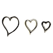Culinary Concepts Amore Heart Candle Pins - Set of Three Reusable Embellishments