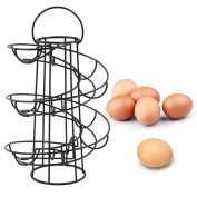 AllRight Chrome Egg Storage Helter Skelter Egg Holder Spiral Egg Rack