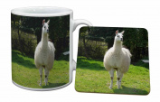 Llama Mug and Table Coaster, Ref:AL-3MC