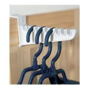 PACK OF 2 OVER THE DOOR IRONING HOOKS ~ HOLD 20 HANGERS