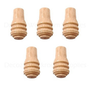 Pack of 5 - Rufflette Box Wood Cord Pull Acorn for Bathroom Ceiling Light Roman and Roller Blinds etc.
