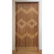 JVL PROVENCE Wooden Beaded Curtain Door Screen Diamonds
