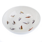 """Small decorative bowl for olives, finger dipping, condiments, soap, trinkets etc. """"Wet Flies"""" by Bryn Parry"""