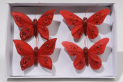 RedFeather Butterflies with diamond decoration x 4