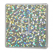 Silver Sequin Sparkle Light Switch Sticker Vinyl / Skin cover