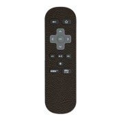 Brown Leather Textured Sticker for Sky Now TV Remote Controller