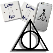 EasyTime UK TM Harry Potter Deathly Hallow's, and Light Switch Sticker Gift Pack