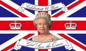 Queen Elizabeth II - 90th Birthday 21st April 2016 1.5mx0.9m Flag