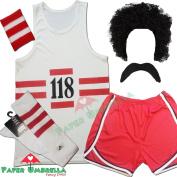 118 FANCY DRESS Mens Ladies costume COMPLETE SET Marathon Retro outfit 100cm chest