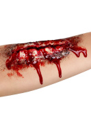 Open Wound Halloween Latex Apllication skin coloured red