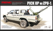 "Meng ""Model 1:35 Toyota Hilux Pick Up Truck w/ZPU1 Anti-Tank Gun"" Kit"