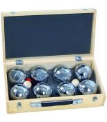 Blinky Petanque Balls Wooden Box, Set 2 x 4; 8 Pieces, 720 gr, Beige