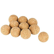10 pcs. Cork Balls for Table Football (Natural Cork Balls) Ø=35 mm, very quietly (table soccer), Set of 10