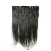 33cm x 10cm Full Lace Frontal Closure Free Part Straight Brazilian Virgin Human Hair Extensions Top Lace Front Closures With Baby Hair Bleached Knots Natural Colour 20cm -60cm