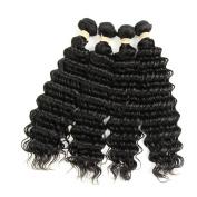 Allrun Hair Deep Weave Brazilian Hair Weave Bundles 4 Bundle Deals Brazilian Curly Virgin Hair Extension 100% Cheap Brazilian Deep Wave 18 20 22 24