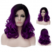 Lolita Median Long Small Curly Hair Cosplay Wig Japan COS Anime Costume Party Wigs 46cm