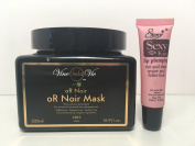 """Vine de la Vie oR Noir Mask for Extremely Dry and Damage Hair 16.9 Oz """"Free Starry Sexy Kiss Lip Plumping 10 Ml"""""""
