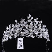 Ulike2 Wedding Bridal Crystal Rhinestone Tiara Flower Style Gold/Silver Plated Crown Headpiece Headwear Hair Jewellery