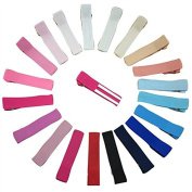 XIMA 4.6cm Double Prong Ribbon Lined Alligator Hair Clip for baby girl,Hair pins,40 colours