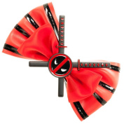 Marvel Comics Deadpool Character Red Hair Bow Tie