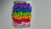 5PC Stylin Crepe Fabric Ponytail Holders, 6PKS, Assorted Colours