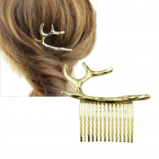 Feelontop® Fashion Hair Accessory Hair Comb for Women with Jewellery Pouch