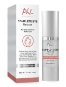 Complete Eye Rescue Cream for Dark Circles Under Eyes, Puffy Eyes & Crow's Feet with Proven Peptides Eyeseryl®, Eyeliss and Vitamin C, Hyaluronic Acid to plump, firm and brighten | The Best Eye Wrinkle Cream & Anti-Ageing Gel by PHL Naturals. 15ml