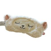 Ayygift Lambs Wool Patch Eye Mask Cute Plush Sheep Sleeping Eye Cover Blinder