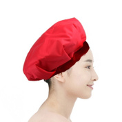 Betterhill Salon Portable Cordless Safe Women Hair Dryer Treatments Hat By Microwave Heating for Deep Penetrating Hair and Scalp Treatments(Red)+ Free Shower Cap