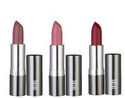 Lotus Pure Organics. Natural Special Discount 3 Colour Bright Summer Love Set Lipsticks, Fashionable Colours, Long lasting, Gluten Free, Cruelty Free, Lead Free, Set #1