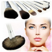 12 pcs Vivid Rose Pattern Professional Makeup Brushes Newly-designed Synthetic Hair Makeup Cosmetic Brushes