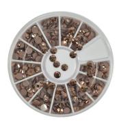 4MM Glitter Acrylic Brown 3D Nail Art Rhinestones Flatback For Nails