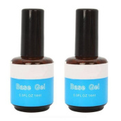 Warm Girl 2pc Base UV Gel 14ml Nail primer Blue Bottle Adhesive Nail Art Accessories Tips Gel Set Manicure