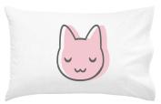 Oh, Susannah Pink Cat Toddler Size Pillowcase