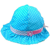 FuzzyGreen® Cute Baby Girls Infant Happy Kids Polka Dots Pattern Cherry Flower Bowknot Ruffle Accent Summer Sun Cotton Hat Cap Beanie