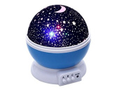 Children's night light, starry sky rotating projection, 4 LED colours, battery or UBS powered by Bananas Over Baby